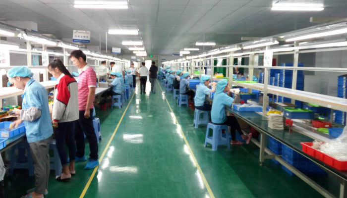 Chinese factory inside